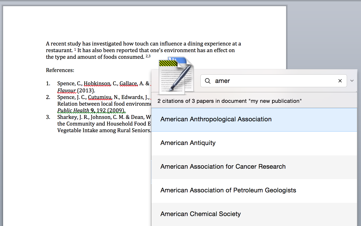 papers support mac papers will only show your default favourite citation styles the remaining 7000 styles can be accessed by using the search box