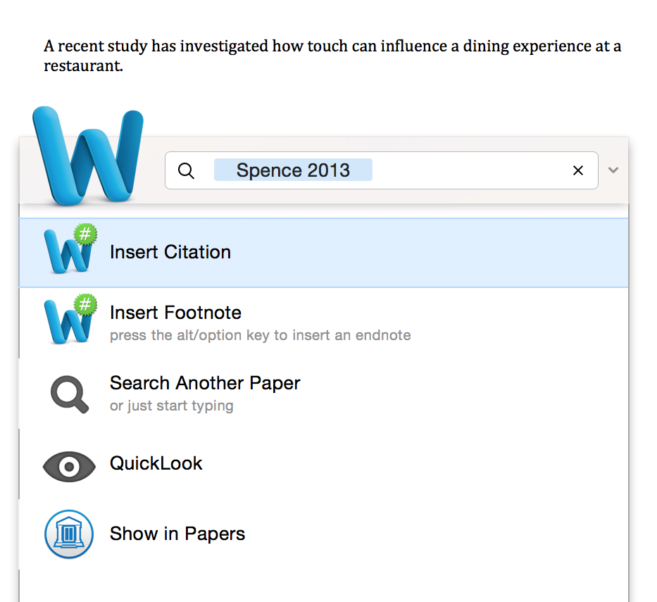 Once You Click On Insert Citation Are Taken Back To Your Manuscript Where Now Has Been Added