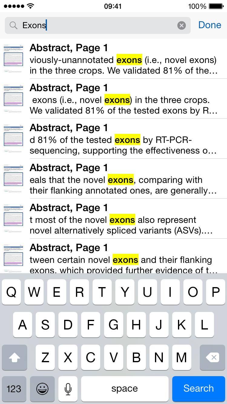 papers support ios search iphone4