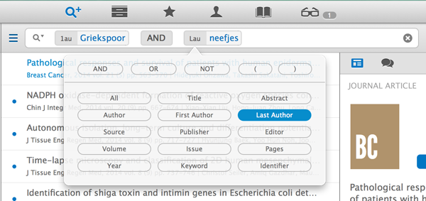 Advanced search and powerful filtering of articles within your